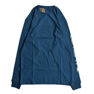 CARHARTT USA / SLEEVE LOGO LS TEE (STREAM BLUE)