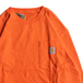 CARHARTT USA / WORKWEAR POCKET LS TEE (ORANGE)
