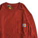 CARHARTT USA / WORKWEAR POCKET LS TEE (CHILI)