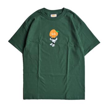 FELT / ORANGE TEE (FOREST GREEN)