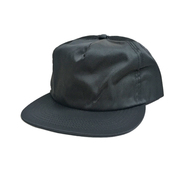 CALI HEADWEAR / NYLON SNAPBACK 5PANEL CAP (BLACK)