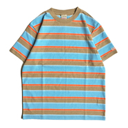 GOODWEAR / BORDER TEE (BROWN)