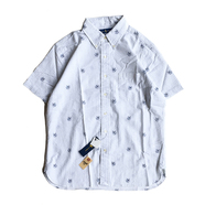POLO RALPH LAUREN / ANCHOR SEERSUCKER SHIRT (WHITE)