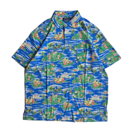 POLO RALPH LAUREN / ALOHA POLO SHIRT (BLUE)
