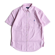 POLO RALPH LAUREN / STRIPE SEERSUCKER SHIRT (PINK)