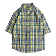 WOOLRICH / CHECK S/S SHIRT (YELLOW)