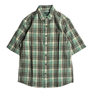 WOOLRICH / CHECK S/S SHIRT (GREEN)