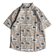 WOOLRICH / PRINTED S/S SHIRT (WHEAT)