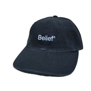 BELIEF / LOGO 6 PANEL CAP (BLACK)