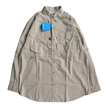 COLUMBIA PFG / FISHING COTTON SHIRT (KHAKI)