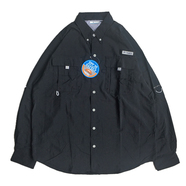 COLUMBIA PFG / FISHING NYLON SHIRT (BLACK)