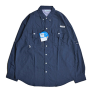 COLUMBIA PFG / FISHING NYLON SHIRT (NAVY)
