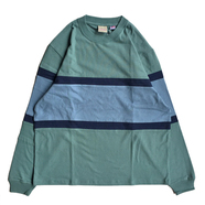 GOODWEAR / BORDER LS TEE (EMERALD)