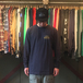 ACAPULCO GOLD / NEW STANDARD LOGO LS TEE (NAVY)