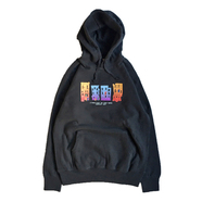 ACAPULCO GOLD / TRIBE BUILDINGS PULLOVER HOODIE (BLACK)