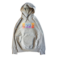 ACAPULCO GOLD / TRIBE BUILDINGS PULLOVER HOODIE (GREY)