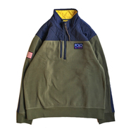 POLO RALPH LAUREN / HI TECH COLOR HYBRID PULLOVER FLEECE