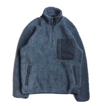 WOOLRICH / FLEECE PULLOVER JACKET (BLACK)