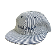 NUMBERS EDITION / WORDMARK DENIM STRIPE 6PANEL CAP