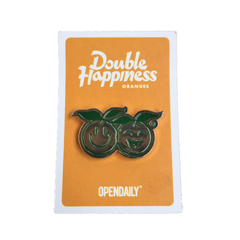 OPEN DAILY / Double Happiness Pin