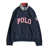POLO RALPH LAUREN / USA HALF ZIP FLEECE (NAVY)
