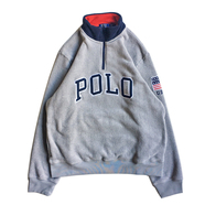 POLO RALPH LAUREN / POLO HALF ZIP FLEECE (GREY)