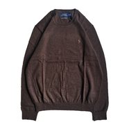 POLO RALPH LAUREN / CREW NECK SWEATER (BROWN)