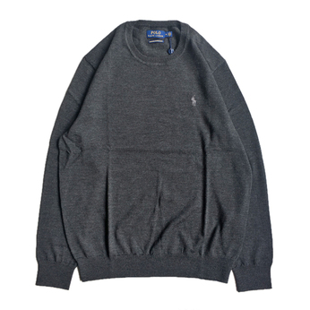 POLO RALPH LAUREN / CREW NECK SWEATER (CHARCOAL)