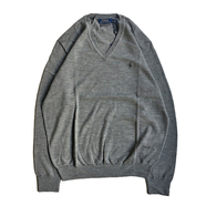 POLO RALPH LAUREN / V NECK SWEATER (GREY)