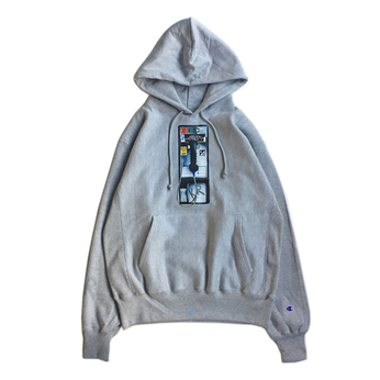 KR USA / PAYPHONE HOODY (GREY)