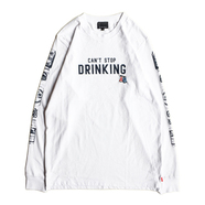 ACAPULCO GOLD /  BEER CAN LS TEE (WHITE)
