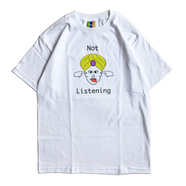 BEDLAM / NOT LISTEN TEE (WHITE)