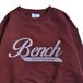 BENCH / LOGO CREW NECK (MAROON)