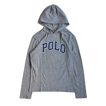 POLO RALPH LAUREN / POLO HOODED LS TEE (GREY)