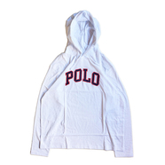 POLO RALPH LAUREN / POLO HOODED LS TEE (WHITE)