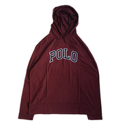 POLO RALPH LAUREN / POLO HOODED LS TEE (MAROON)