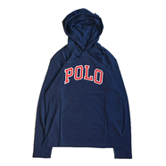 POLO RALPH LAUREN / POLO HOODED LS TEE (NAVY)