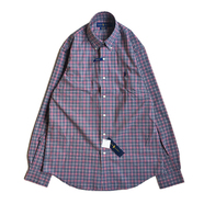 POLO RALPH LAUREN / PLAID OXFORD STRETCH SHIRT (NAVY)
