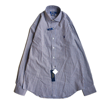 POLO RALPH LAUREN / PLAID OXFORD STRETCH SHIRT (MOCHA)