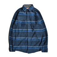 WRANGLER / FLANNEL SHIRT (NAVY STRIPE)