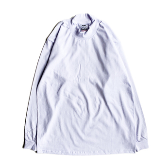 PRO CLUB / MOCK NECK LS TEE (WHITE)