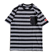 ACAPULCO GOLD / AGNY BORDER POCKET TEE (BLACK x WHITE)