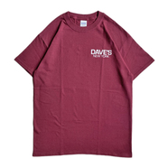 DAVE'S NEW YORK / LOGO TEE (BURGUNDY) - XXL
