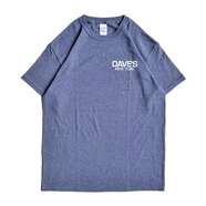 DAVE'S NEW YORK / LOGO TEE (HEATHER NAVY) - XXL