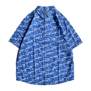 WOOLRICH / PRINTED S/S SHIRT (BLUE)