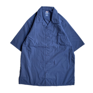 RED KAP / OPEN COLLAR SHIRT (NAVY)