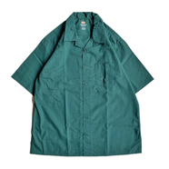 RED KAP / OPEN COLLAR SHIRT (GREEN)