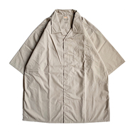 RED KAP / OPEN COLLAR SHIRT (KHAKI)