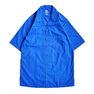 RED KAP / OPEN COLLAR SHIRT (BLUE)