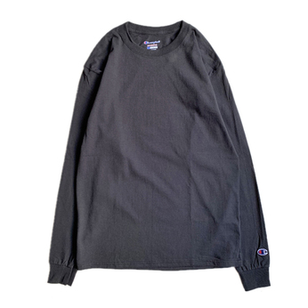 CHAMPION USA / 5.2oz Long Sleeve Tee (BLACK)